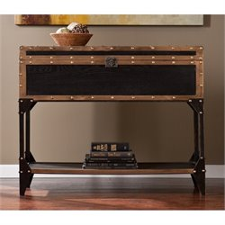 Southern Enterprises Drifton Console Table with Storage in Black