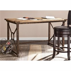 Southern Enterprises Knightley Tilt-Top Drafting Table in Oak