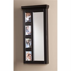 Southern Enterprises Moore Photo Jewelry Armoire in Black