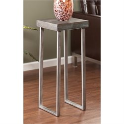 Southern Enterprises Nolan Pedestal Accent Table in Burnt Oak