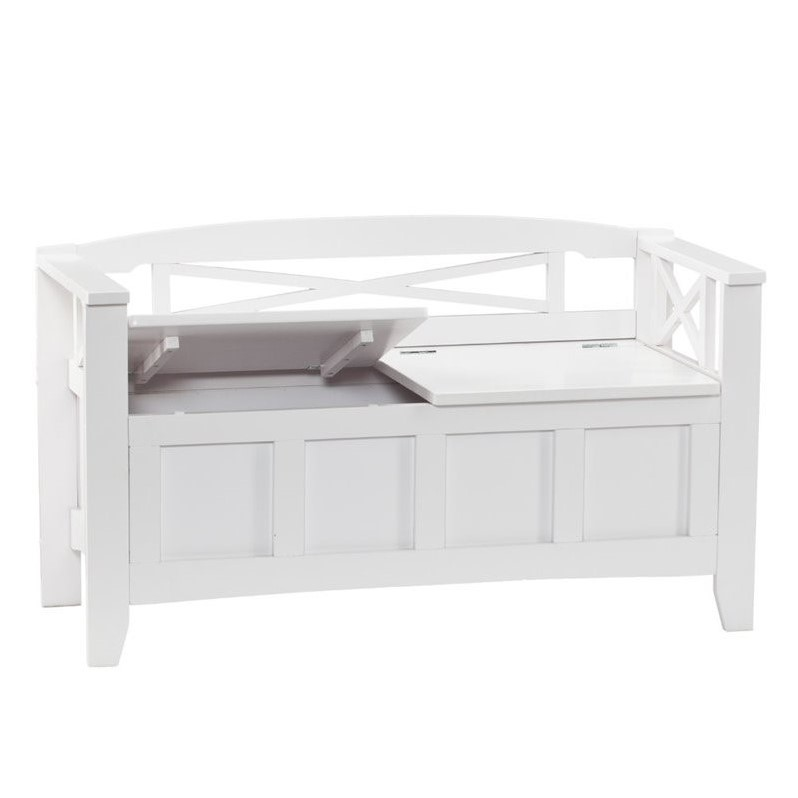 southern enterprises cutler storage bench in white bc2826