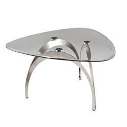 Southern Enterprises Marin Coffee Table in Satin Nickel