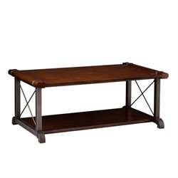 Southern Enterprises Piermont Coffee Table in Rubberwood