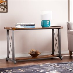 Southern Enterprises Piermont Console Table in Rubberwood