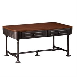 Southern Enterprises Edison Coffee Table in Dark Tobacco and Gray