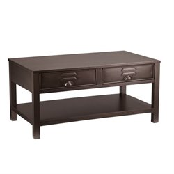 Southern Enterprises Radcliff Metal Coffee Table in Renovation Gray