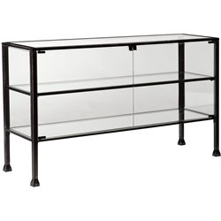 Southern Enterprises Terrarium Display Console Table in Black
