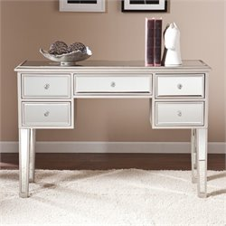 Southern Enterprises Mirage Mirrored Console Table in Silver