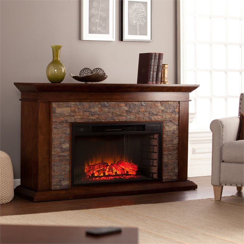Southern Enterprises Canyon Heights Electric Fireplace In Maple Fe9023