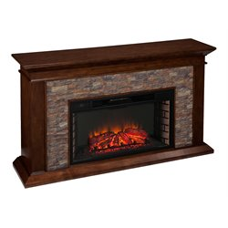 Southern Enterprises Canyon Heights Electric Fireplace in Maple