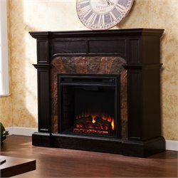 Cartwright Corner Electric Fireplace in Ebony