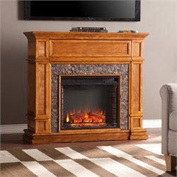 Belleview Electric Fireplace TV Stand in Sienna