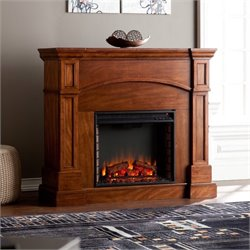Lantana Corner Electric Fireplace in Oak