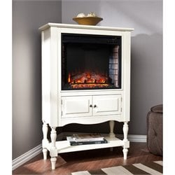 Providence Electric Fireplace Tower in White