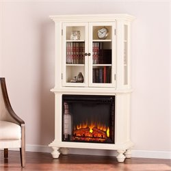 Townsend Electric Fireplace Curio in White