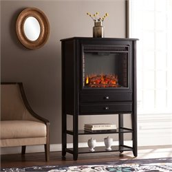 Vickery Corner Infrared Electric Fireplace Curio in Black