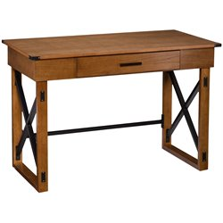 Southern Enterprises Canton Height Adjustable Desk in Glazed Pine