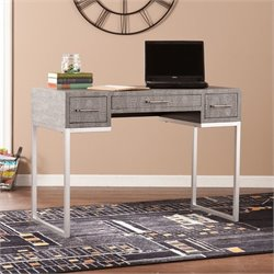 Southern Enterprises Carabelle Reptile Desk in Gray