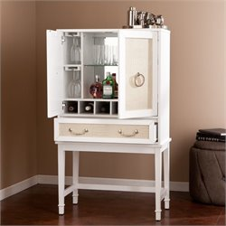 Southern Enterprises Parita Bar Cabinet in White