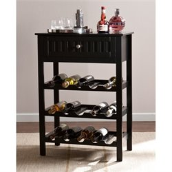 Southern Enterprises Emilion Wine and Bar Table in Black