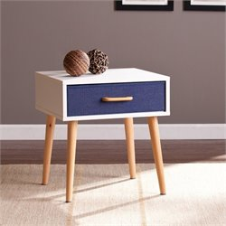 Southern Enterprises Maydell 1-Drawer Storage End Table in White