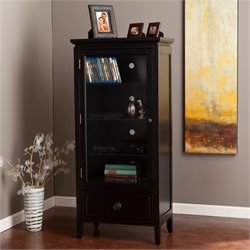 Southern Enterprises Kylan Storage and Display Tower in Black