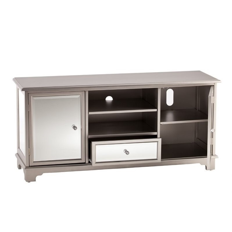 Southern Enterprises Mirage 52 Quot Mirrored Tv Media Stand In