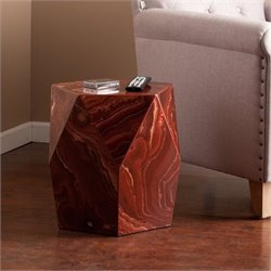 Roxbury Faux Stone Accent Table