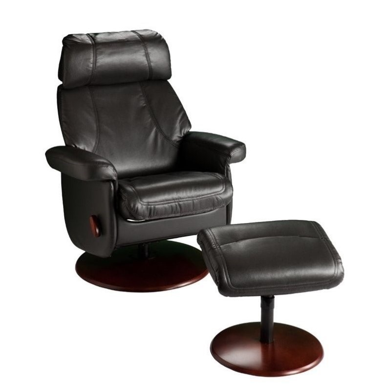 southern enterprises swivel glider recliner with ottoman in black up5906rc