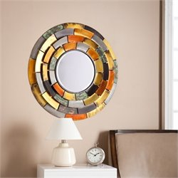 Southern Enterprises Baroda Round Decorative Mirror
