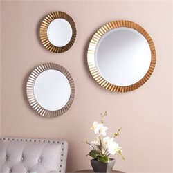 Southern Enterprises Lucerne 3 Piece Round Wall Mirror Set