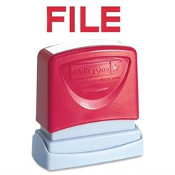 SKILCRAFT Pre-inked Red File Message Stamp