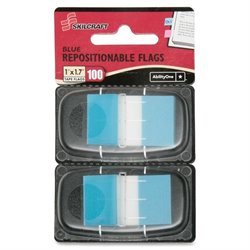 SKILCRAFT Removable Self-stick Flags Dispenser (Set of 100)
