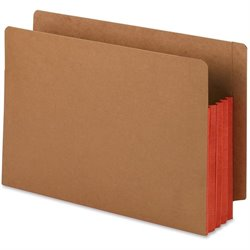 Smead Red Rope End-Tab File Pockets w/Clrd Gussets