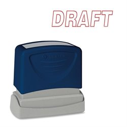 Sparco DRAFT Red Title Stamp