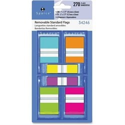 Sparco Assorted Pop-Up Flags Combo Pack