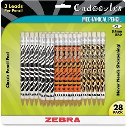 Zebra Cadoozles Animal Print Mechanical Pencils
