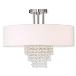 Livex Carlisle Ceiling Mount in Brushed Nickel