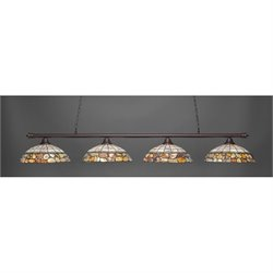 Toltec Oxford 4 Light Bar in Dark Granite with 16