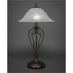 Toltec Olde Iron Table Lamp in Bronze with 16