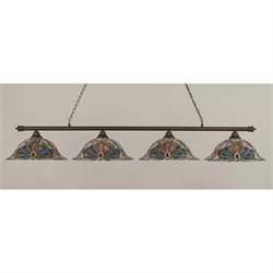 Toltec Oxford 4 Light Bar in Bronze with 19