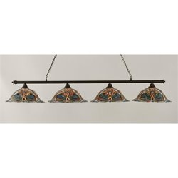 Toltec Oxford 4 Light Bar in Dark Granite with 19