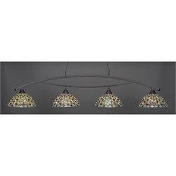 Toltec Bow 4 Light Bar in Dark Granite with 16