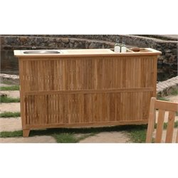 Anderson Teak Safari Outdoor Bar in Natural