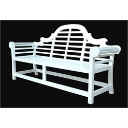Anderson Teak Marlborough Outdoor 3 Seater Bench in White