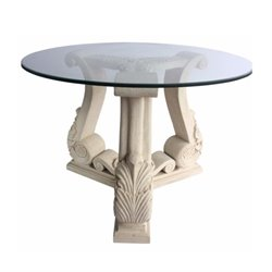 Anderson Teak Fleur Pedestal Table in Natural Beige