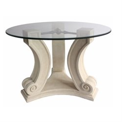 Anderson Teak Regency Pedestal Table in Natural Beige