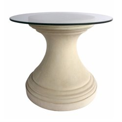 Anderson Teak Fairbank Round Pedestal Table in Natural Beige