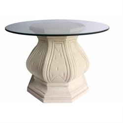 Anderson Teak Louis XIV Pedestal Table in Natural Beige