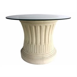 Anderson Teak Louis XVI Fluted Pedestal Table in Natural Beige